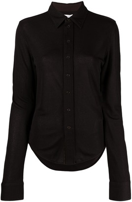 Bottega Veneta Button Front Slim Shirt