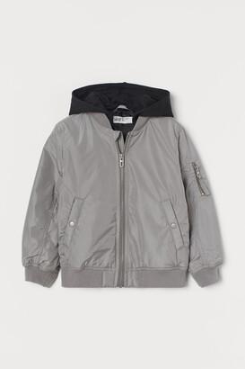 H&M Hooded Bomber Jacket
