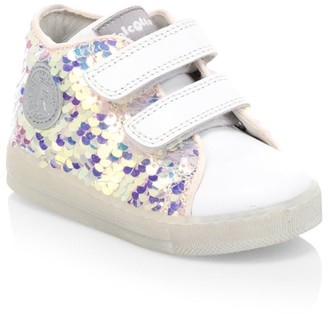 Naturino Baby's & Little Girl's Falcotto Michael Sequin Leather Low-Top Sneakers
