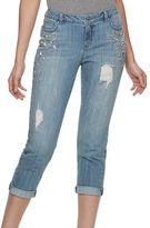JLO by Jennifer Lopez Women's Embellished Boyfriend Jeans