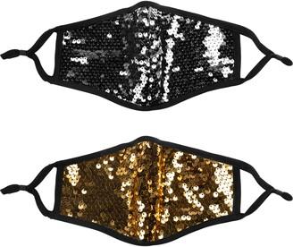 LOVE CHANGES Assorted 2-Pack Sequin Adult Face Masks