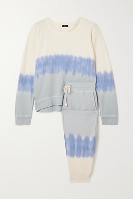 Rails Theo Oakland Tie-dyed Cotton And Modal-blend Jersey Sweatshirt And Track Pants Set