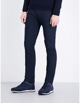 Armani Jeans Pindot-pattern Slim-fit Tapered Jeans