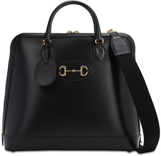 Gucci Horsebite Detail Leather Tote Bag