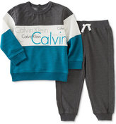 Calvin Klein Baby Boys' 2-Pc. Colorblocked Sweatshirt & Pants Set