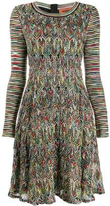 Missoni mixed-pattern knitted dress