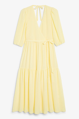 Monki Puff sleeve midi dress