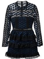 Self-Portrait star lace panelled dress - women - Polyester/Spandex/Elastane - 8