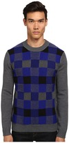 McQ by Alexander McQueen Check Crew Neck Sweater