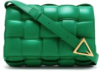 Bottega Veneta Cassette Small Intrecciato-leather Cross-body Bag - Green