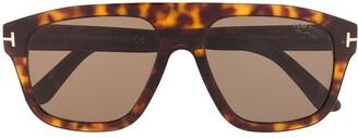 Tom Ford tortoiseshell aviator frame sunglasses
