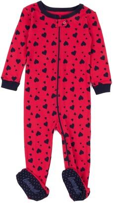 Leveret Hearts Footed Sleeper Pajama