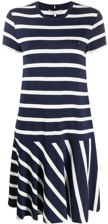 Tommy Hilfiger striped flared T-shirt dress