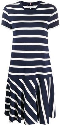 Tommy Hilfiger striped flared T-shirt dress