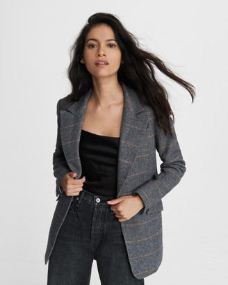 Rag & Bone Annie plaid wool blazer