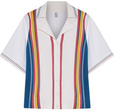 Rosie Assoulin Striped Knit And Poplin Shirt - White