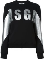 MSGM logo print sweatshirt - women - Cotton - XS