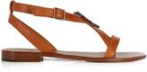 Saint Laurent Serpent-logo leather sandals