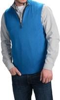 Forte Cashmere Mock Zip Neck Sweater Vest - Cashmere (For Men)