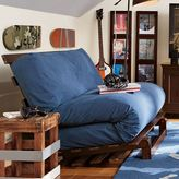 Futon Slipcover, Washed Twill Light Gray, Full