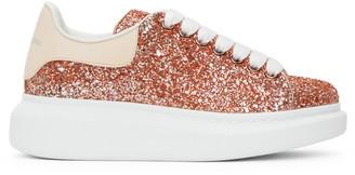 Alexander McQueen Pink Galaxy Glitter Oversized Sneakers