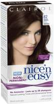 Clairol Nice 'N Easy Non Permanent Hair Color, 82 Dark Warm for Women, 1 Application