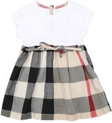 Burberry Check Cotton Poplin & Rib Jersey Dress