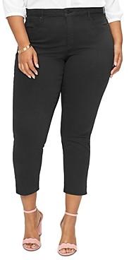 NYDJ Plus Ami Skinny Ankle Jeans in Black