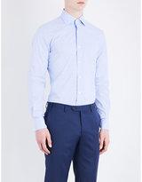 Corneliani Prince Of Wales Slim-fit Cotton Shirt