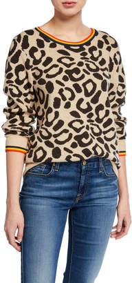 Kule The Stevens Leopard-Print Sweater