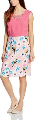 Almost Famous Women's Bird Skirt Cocktail Floral Sleeveless Dress