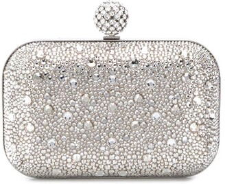 Jimmy Choo Cloud crystal-embellished clutch