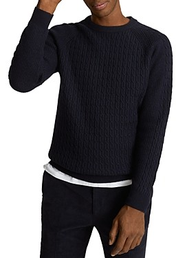 Reiss Ripper Cable Knit Sweater