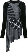 3.1 Phillip Lim fringed check jumper - women - Nylon/Spandex/Elastane/Viscose/Wool - S