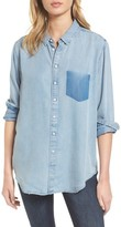 DL1961 Women's X The Blue Shirt Shop Nassau & Manhattan Boyfriend Shirt