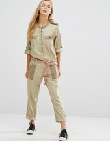 Maison Scotch Safari Rope Belt Jumpsuit