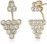 Sam Edelman Gold Stone Cluster Floater Earrings