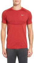Nike Men's Slim Fit Knit Trim Dri-Fit Running T-Shirt