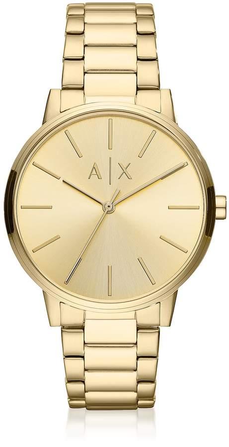 51f9db55dbfeb Mens Gold Armani Watch - ShopStyle