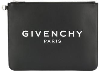Givenchy logo printed clutch