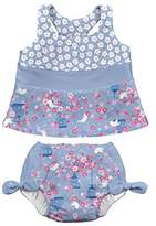 I Play I-Play Tankini Set With Swim Diaper, 12 to 18 Months, Light Blue Songbird