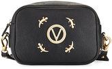 Valentino By Mario Valentino Mia Zip-Top Lizard Shoulder Bag, Black