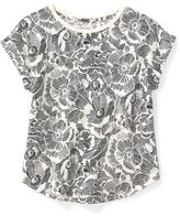 Old Navy Cropped Rolled-Cuff Tee for Girls