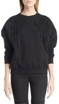 Alexander McQueen Women's Bead & Lace Embellished Sweatshirt