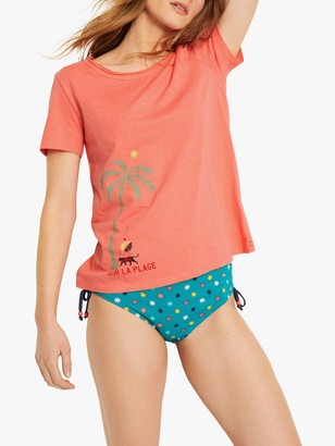 White Stuff Vacation T-Shirt, Coral