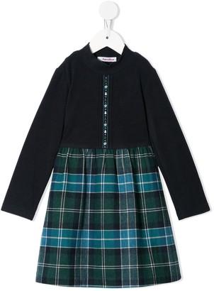 Familiar Plaid-Skirt Dress