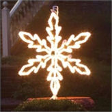 Asstd National Brand 36 Lighted White Hanging Snowflake Christmas Decoration with Clear Lights