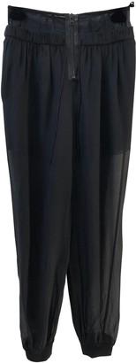 Alexander Wang Black Silk Trousers