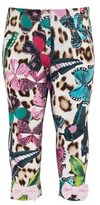 Roberto Cavalli Butterfly And Leopard Print Leggings
