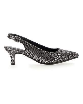 Jd Williams Kitten Heel Slingback Shoes EEE Fit